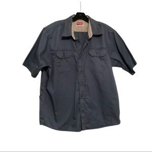 Wrangler Short Sleeve Shirt, Blue, Size L